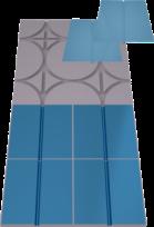 mega-floor+ Rillenelement für Nassputz